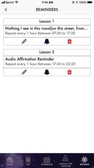 ACIM iOS Reminder List